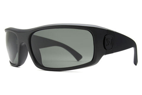 VonZipper - Kickstand Black Satin SIN Sunglasses, Grey Lenses