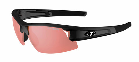 Tifosi - Synapse Gloss Black Sunglasses / High Speed Red Lenses