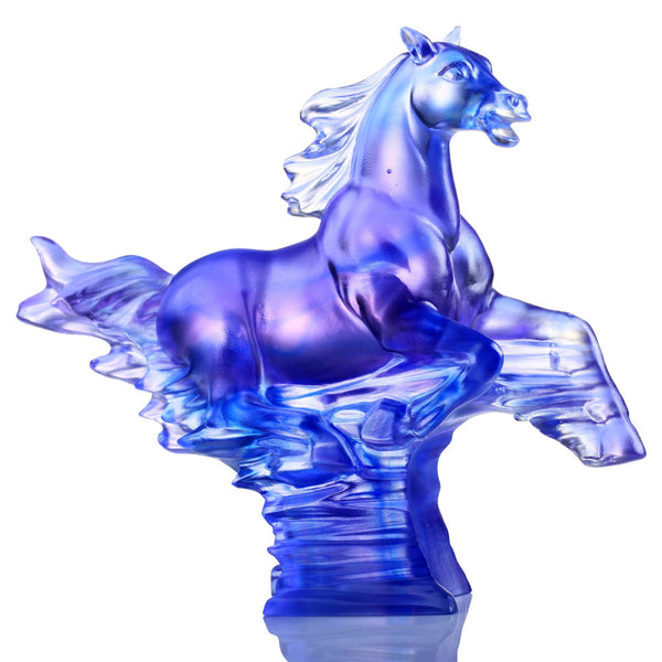 Horse Figurine (Leadership) - The Leader - LIULI Crystal Art | Collectible Glass Art