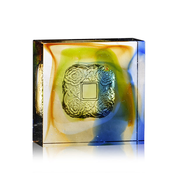 Complete Magnificence (Prosperity) - Crystal Paperweight - LIULI Crystal Art