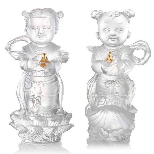 Doll of Fortune & Pearl - Baby Fortune & Baby Pearl (Set of 2) - LIULI Crystal Art