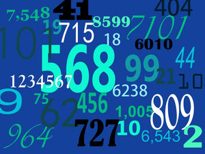 numbers on a blue background describing a construction math course