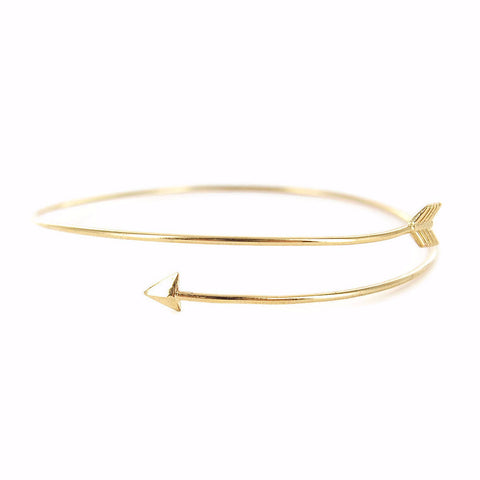Thin Arrow Bangle