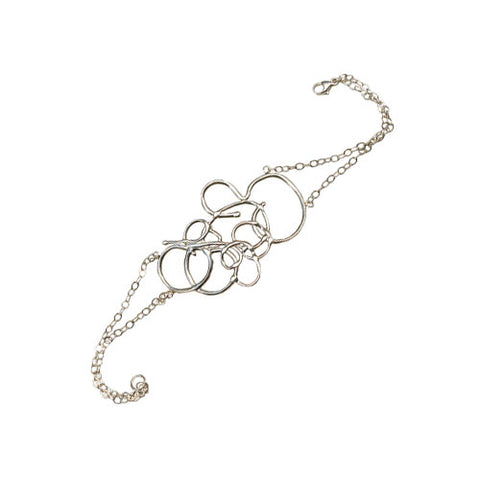 Modern Abstract Squiggle Bracelet