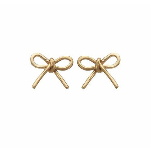 14kt Gold Bow Earrings