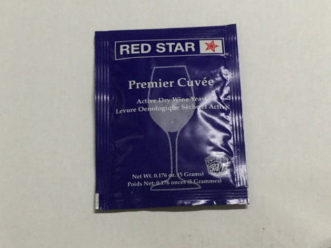 Red Star Premier Cuvee Wine Yeast, 5 gm