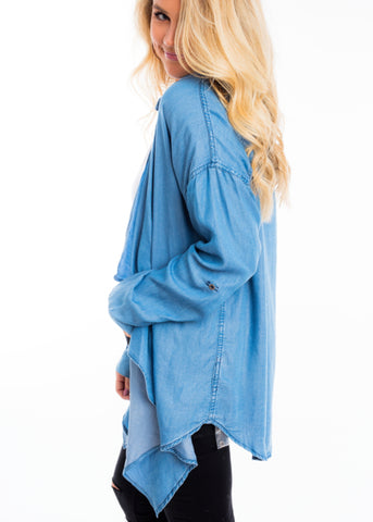 DENIM DAYS FLY AWAY CARDIGAN