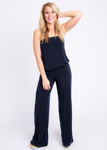 WITH YOU STRAPLESS JUMPSUIT BY VERONICA M