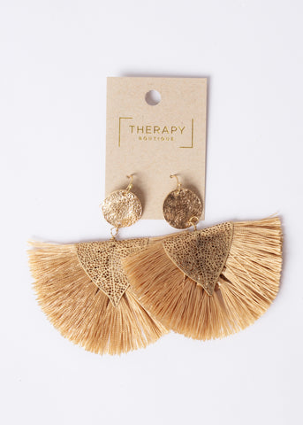 COME ALIVE FRINGE EARRINGS