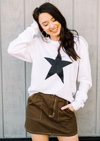 STAR LONG SLEEVE TOP BY SCARLET & GOLD