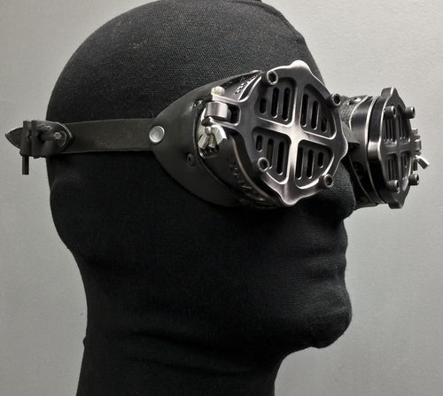 Machined Flip Cover Goggles  - War -Black