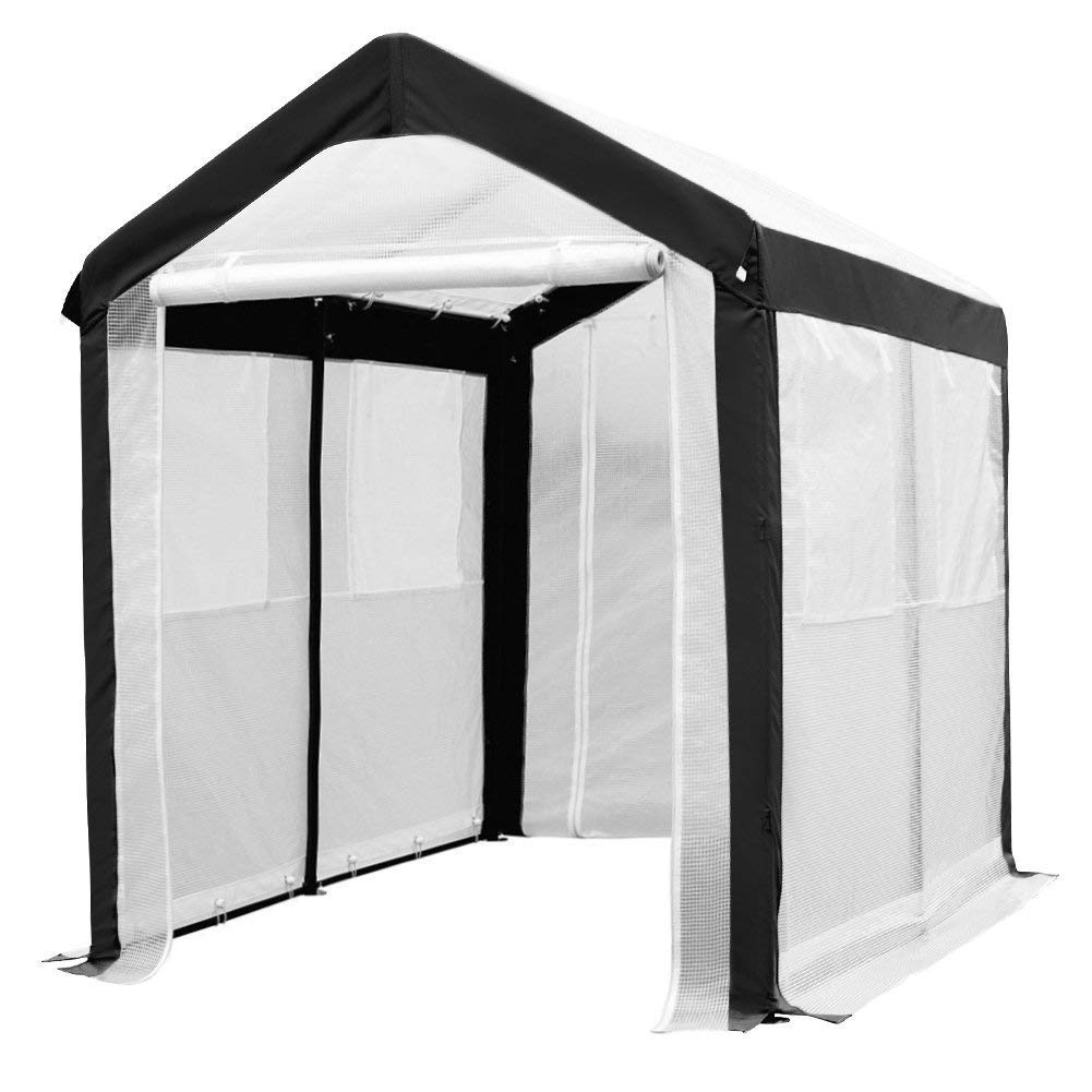 Abba Patio 6 x 8-Feet Large Walk in Greenhouse with Windows, White