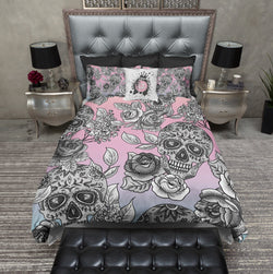 The Original Pink and Lavender Ombre Sugar Skull  Bedding