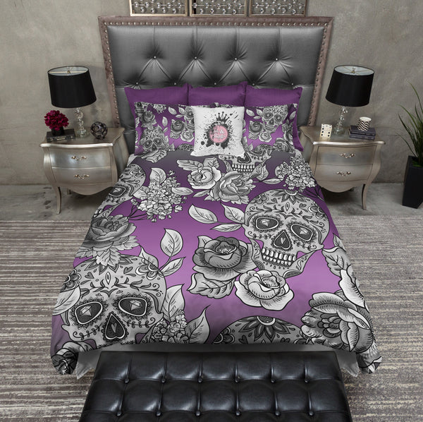 The Original Purple Ombre Sugar Skull Bedding