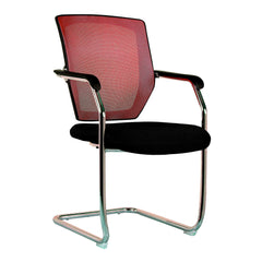 NEXUS • Medium Back Mesh Cantilever Chair with Chrome Frame