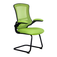 LUNA • Designer Mesh Cantilever Chair with Black Frame