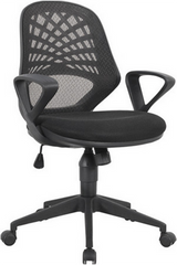 LATTICE • Mesh Back Operator Armchair with Fluted Black Nylon Base