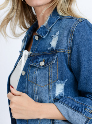 To The Top Denim Jacket
