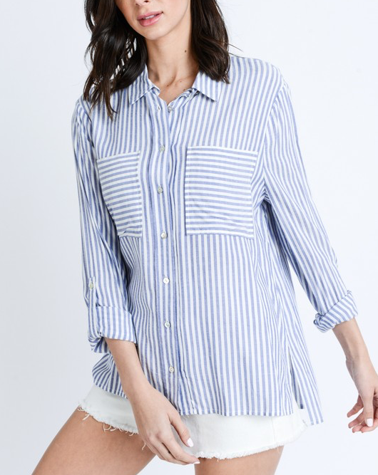 Uptown Button Down Blouse
