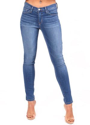 Medium Blue Ankle Skinny