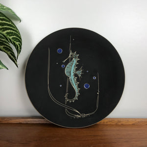 Mid Century 'Sea Horse' Wall Plate / Plaque