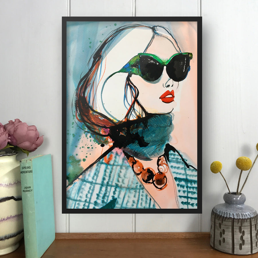 PRADA Amy Beager Giclée Print on a light white interior