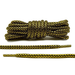Black/Metallic Gold Rope Laces