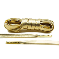 Gold Luxury Leather Laces - Gold Plated