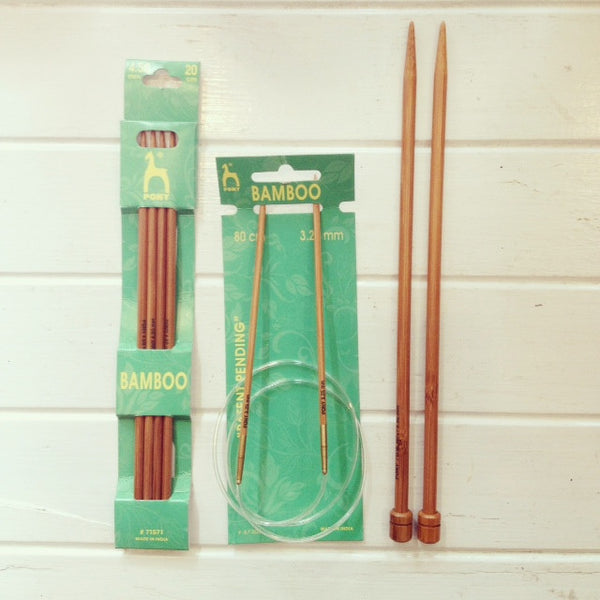 Bamboo knitting pins