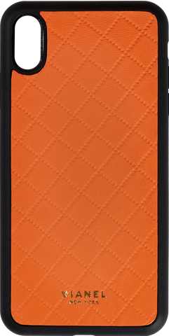 Lambskin / Orange Quilted / More than 10 letters