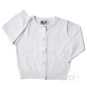 Fingerprints New York Boys / Girls Classic White Cardigan - Madison-Drake Children's Boutique