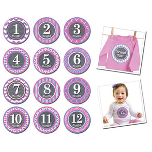 Sticky Bellies Patterned Princess Baby Growth Stickers - Madison-Drake Children's Boutique