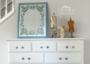 Raw Silk Dresser and Nightstand Makeover