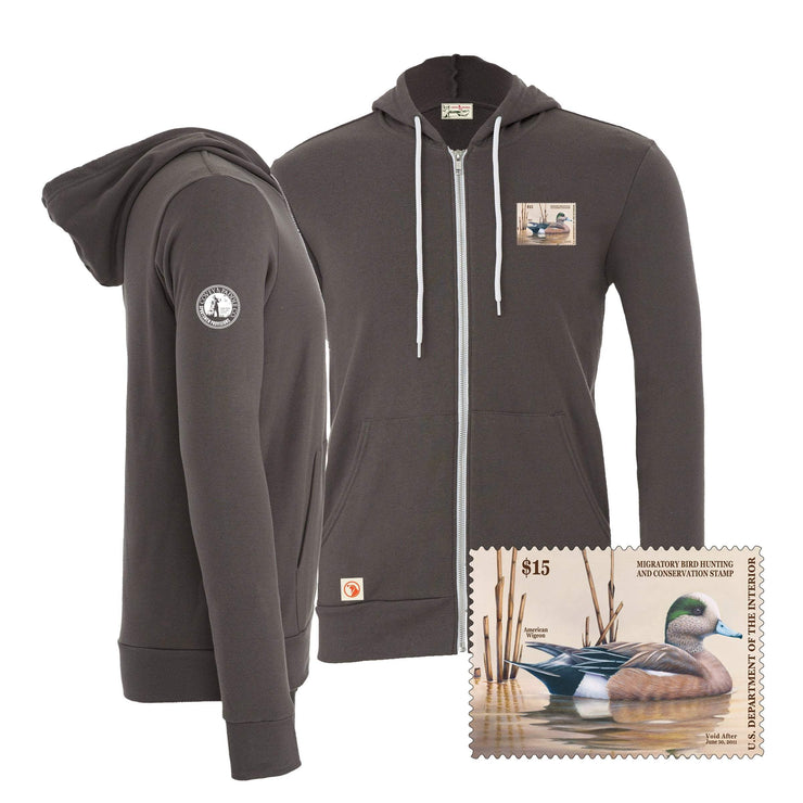 2010-2011 Federal Duck Stamp Full Zip Hoody - Covey and Paddle