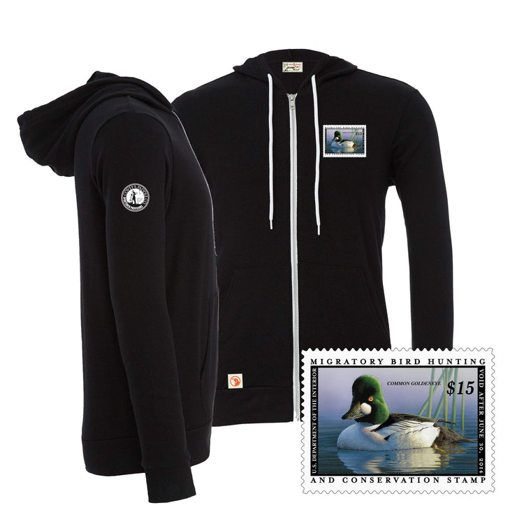 2013-2014 Federal Duck Stamp Full Zip Hoody - Covey and Paddle