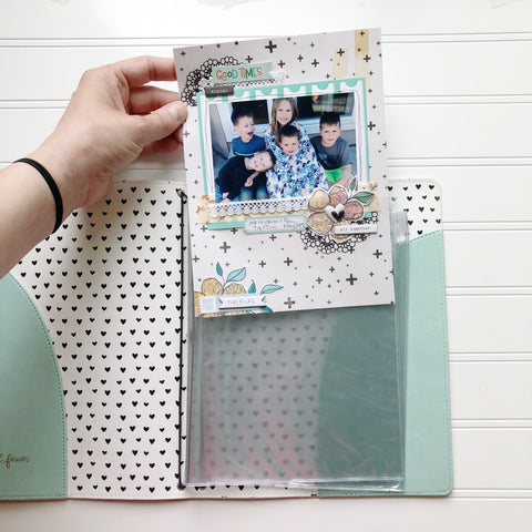 Scrapbook Insert for Traveler's Notebook (6x8 Size)
