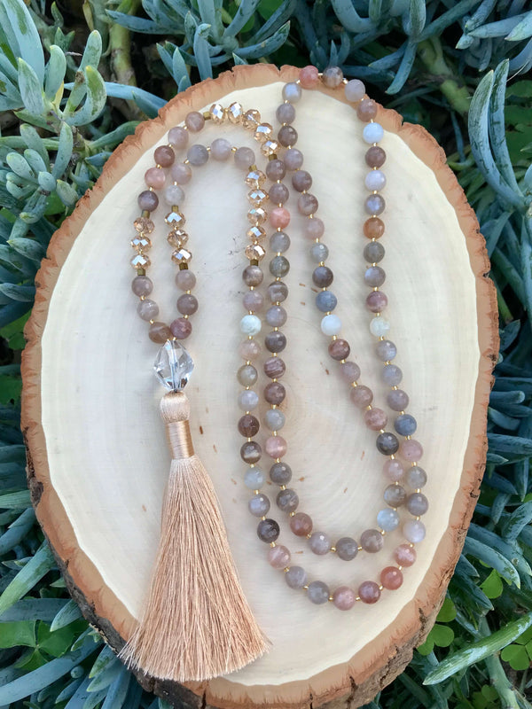 New Beginnings & Success - Moonstone 108 Mala