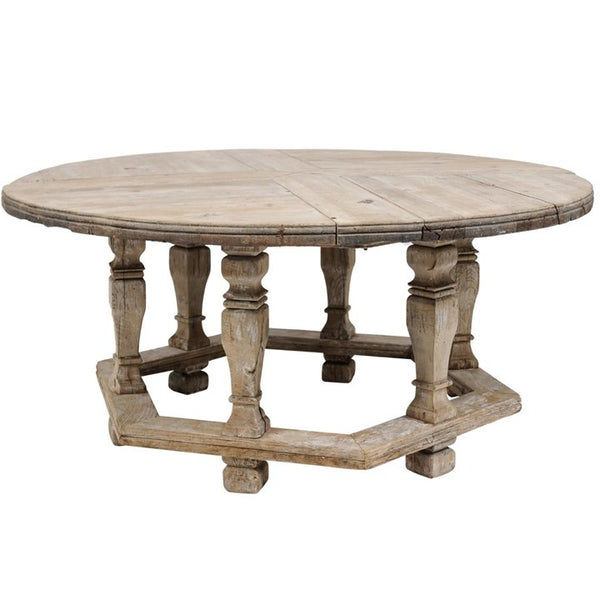 19th Century Round Oak Table