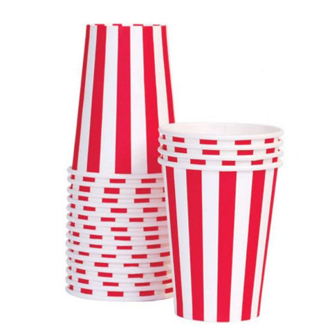 Paper cups - Red and white.