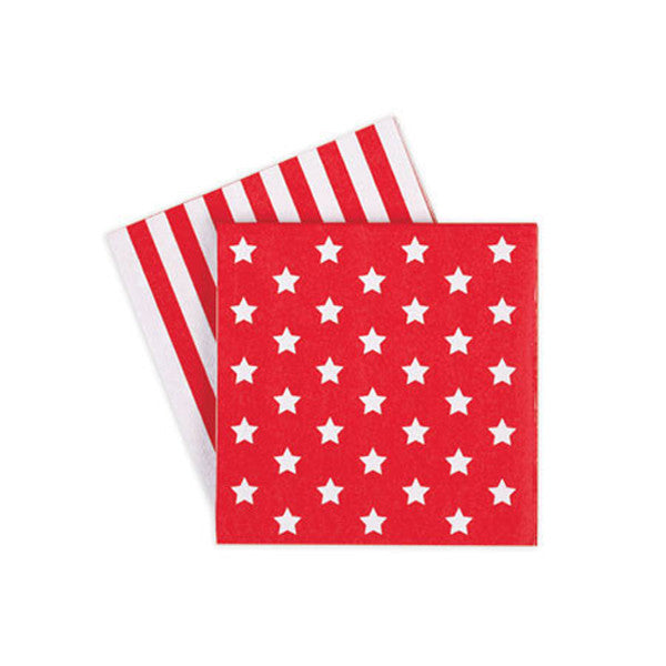 Paper Napkins - Red and white