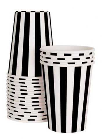Paper cups Black and white