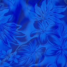 Load image into Gallery viewer, plumeria shadow blue hawaiian traditional pa'u hula skirt