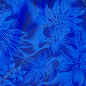 plumeria shadow blue hawaiian traditional pa'u hula skirt
