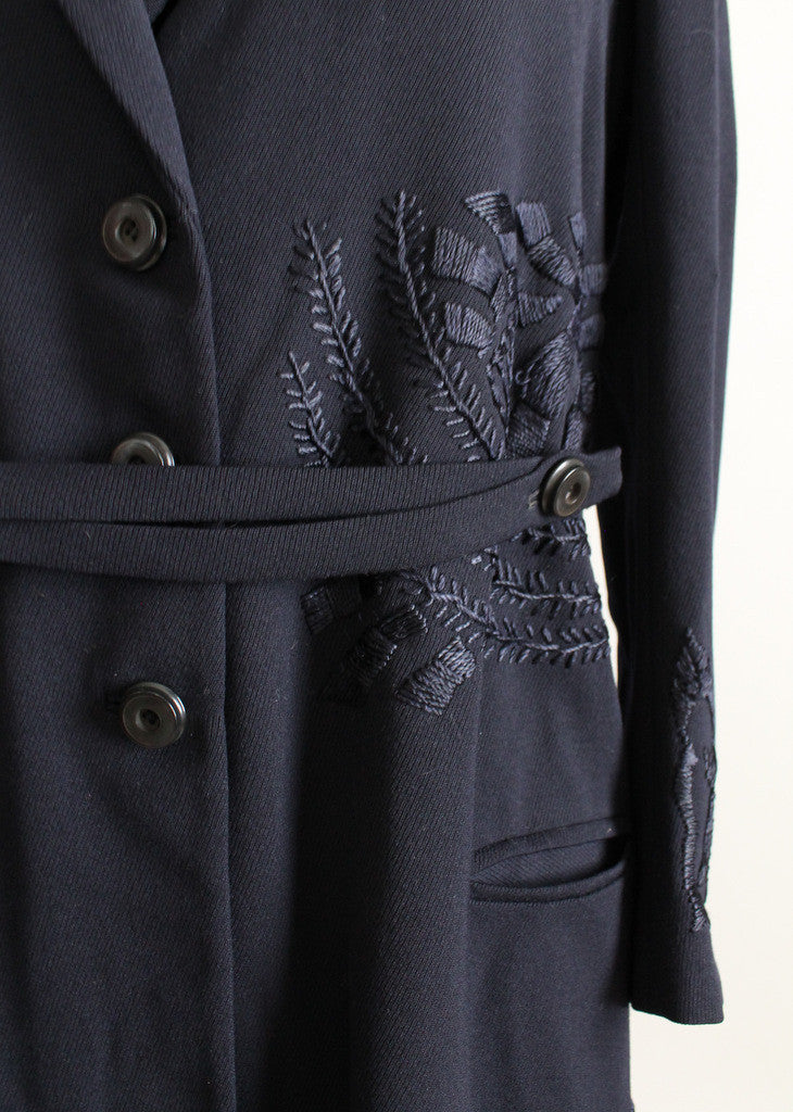 Edwardian Embroidered Wool Coat