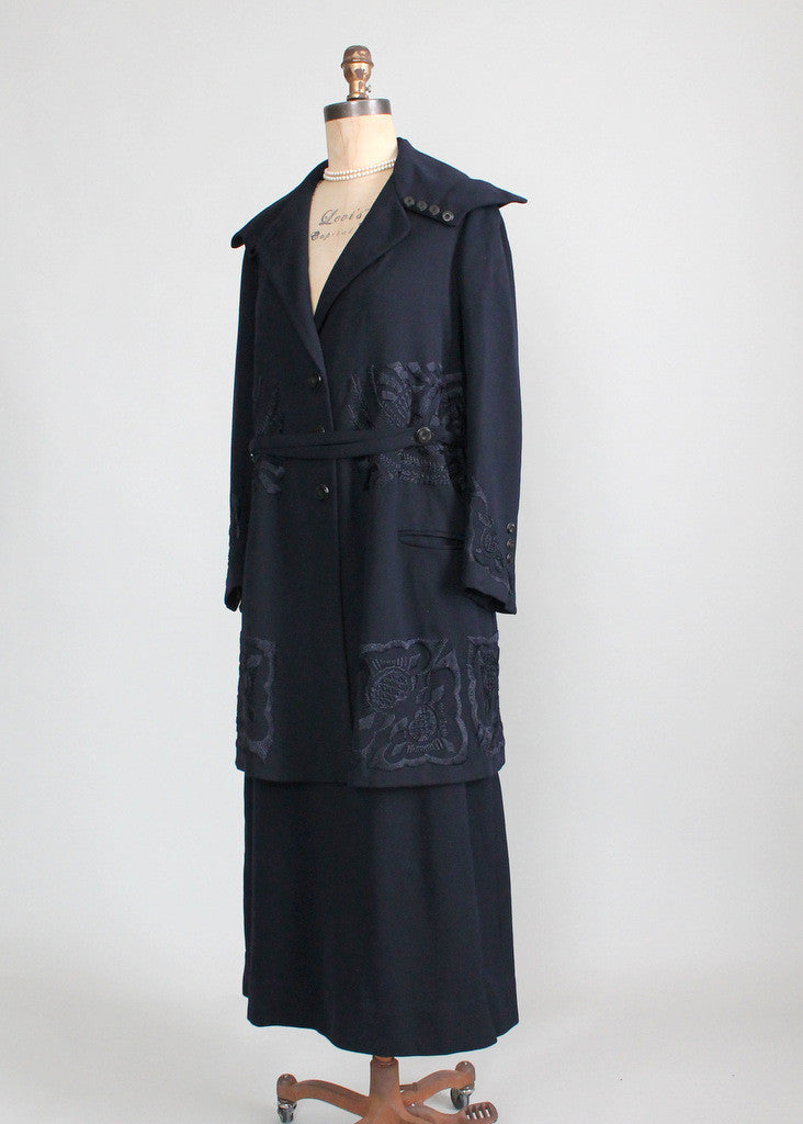 Edwardian Wool Coat and Skirt Set