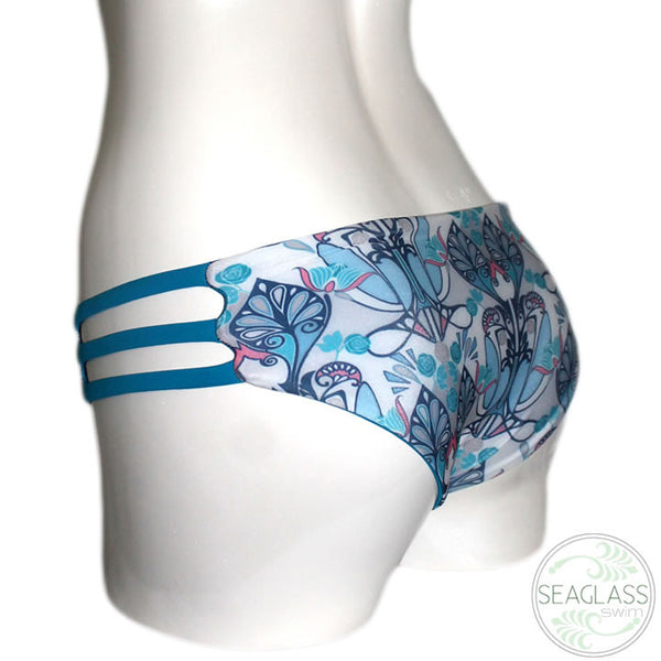 Seaglass Swimwear #230 Cali Cage Bottom Triple Side Strap - The Uncharted Studio