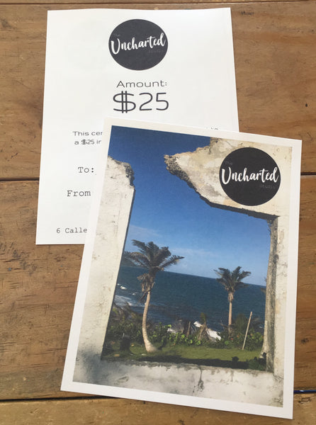 $25 Uncharted Gift Certificate