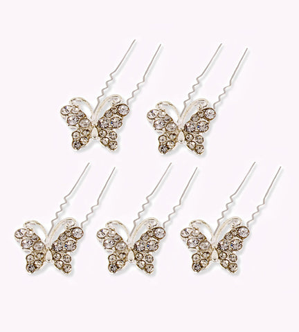 Butterfly Hair Pin (5 pack) Hair Bun Accessory
