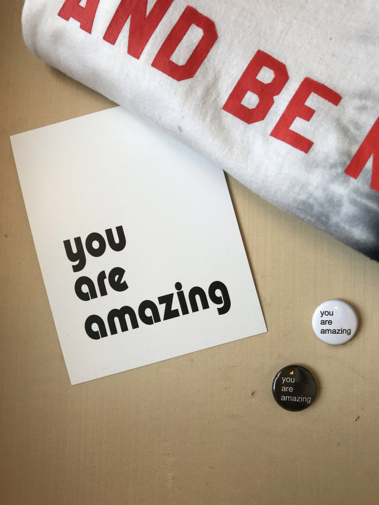 you are amazing - postcard