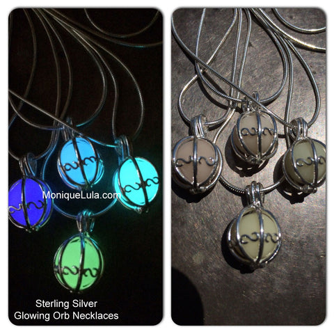 Sterling Silver Glowing Orb Necklace